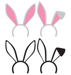 easter bunny or rabbit ears mask vector image
