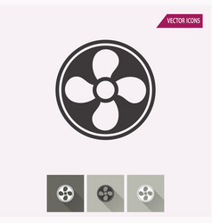 fan - icon vector image
