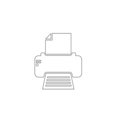 fax printer flat icon vector image