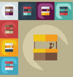 Flat modern design with shadow icon coffee stall vector