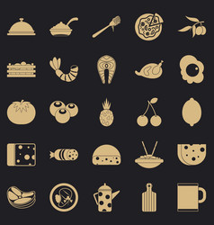 Flesh icons set simple style vector