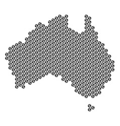 Football ball australia map mosaic vector