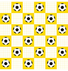 Football Ball Yellow White Chess Board vector