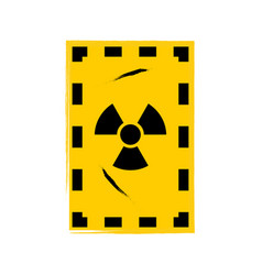 grunge poster radioactive sign on grunge vector image