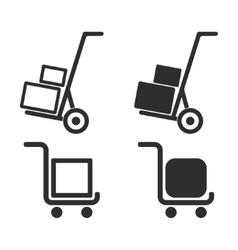 Handcart icon set vector