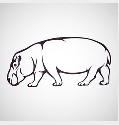 Hippo logo icon vector