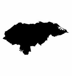 honduras silhouette map vector image