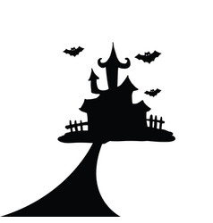 house of hallowen silhoute vector image