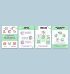 Intermittent fasting benefits brochure template vector