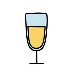 Isolated alcohol cup icon design vector
