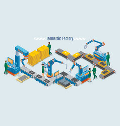 Isometric industrial factory template vector
