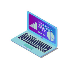 laptop isometric created for vector image
