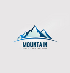 large mountain peaks with horizon logo vector image