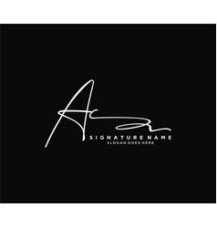 Letter ac signature logo template vector