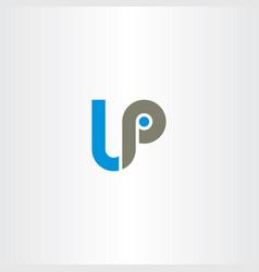 letter lp logo logotype vector image