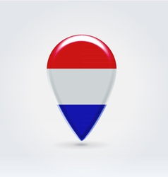 Luxembourg icon point for map vector image