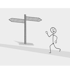 Man running on the street vector