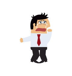 Manager crying icon vector