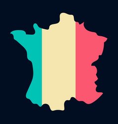 map of france with flag isolated 3d isometric vector image