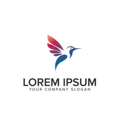 modern bird logo design concept template fully vector image