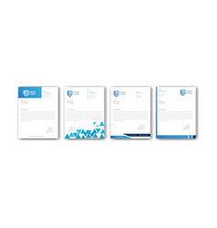 Modern blue letterhead design templates vector