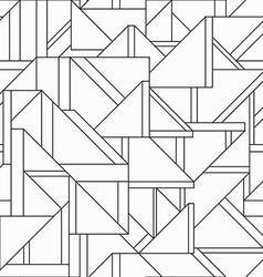monochrome retro triangle seamless pattern vector image