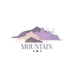 Mountain logo tourism hiking and outdoor vector