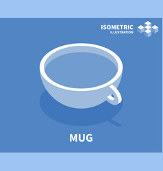 mug icon isometric template for web design vector image