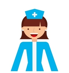 nurse woman professional icon vector image