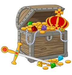 Open Treasure Chest vector