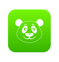 panda icon digital green vector image