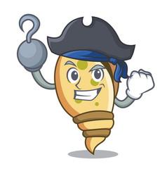 Pirate sea shell character cartoon vector