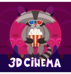 Raccoon Cinema Poster vector
