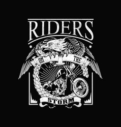 Riders on storm vector