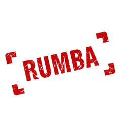 Rumba stamp square grunge sign isolated on white vector