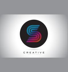 s blue purple letter logo design colorful modern vector image