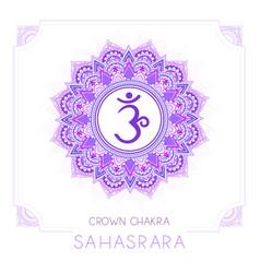 Sahasrara - crown chakra vector