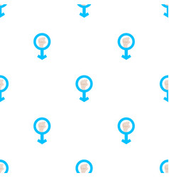 seamless pattern with mans resist symbol on white vector image