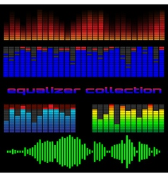 Set of colored equalizers vector