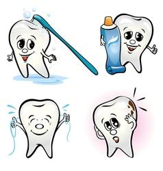 Set teeth vector