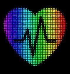 Spectrum pixel cardiology icon vector
