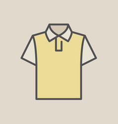 t-shirt colorful icon vector image