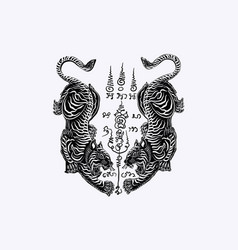 Thai traditional tattoo vector