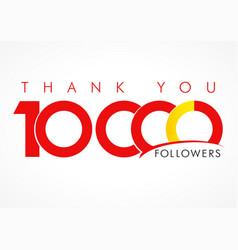 Thank you 10000 followers logo concept vector