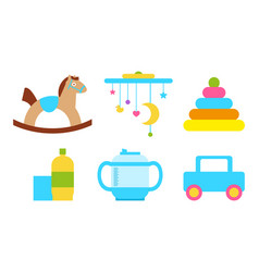 toys child objects collection vector image