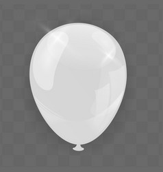 transparent balloon isolated on background vector image