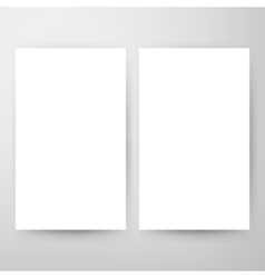 Two Blank Brochure Mockup vector image