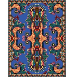 ukrainian floral carpet design for print on canvas vector image