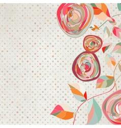 Vintage Floral Copy Space Background vector image