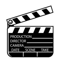 vintage monochrome movie clapperboard concept vector image